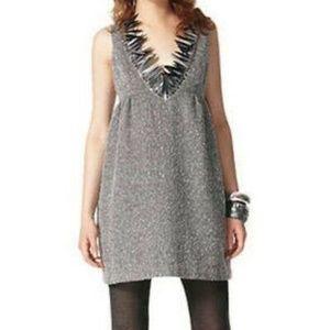 Anna Sui Women's Dress V NeckTweed Cocktail Plus
